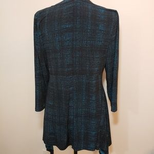 Chaus New York Tops - Chaus New York tunic top black and teal size L